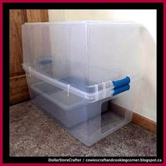 "Dollar Store Crafter: Make Your Own ""no more dust"" Cat Litter Box Cat Litter Boxes, Litter Box Smell, Litter Box Enclosure, Cat Boxes, Cat Litter Mat, Enclosed Litter Box, Cleaning Litter Box, Litter Box Covers, Catio"