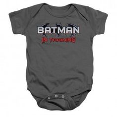 Batman Batman In Training Bodysuit #batman #batmanintrainging #comicbook #movie #moviemerch #licensed #Kids #kidsclothes #infantclothes #babybodysuit  #baby #badassbaby #rockabilia #licensed #licensedmerch #licensedmerchandise #dccomics