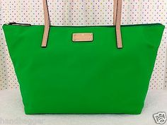 729ab96230 KATE SPADE KENNEDY PARK SOPHIE TOTE BAG HANDBAG PURSE GREEN NYLON WKRU2009  NWT Lima