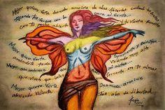 EL PODER DE LA DIOSA. El cuerpo es un símbolo y el vientre, el útero femenino, es el símbolo de la conexión con lo no manifestado, la Diosa.