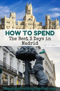 How to Spend the Best 3 Days in Madrid. Planning travel to Madrid Spain? Use this Madrid itinerary guide to plan the best things to do in Madrid, where to stay, where to eat, and the best day trips from Madrid. Vacation Trips, Day Trips, Barcelona Spain Travel, Backpacking Spain, Madrid Travel, Spain Travel Guide, South Of Spain, Travel Aesthetic, European Travel