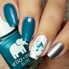 Love these Mermaid nails by @justagirlandhernails using our Mermaid Nail Stencils found at snailvinyls.com