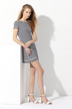 Add nautical vibes to your summer wardrobe with Theory's simple striped number.
