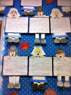 Great art activity to incorporate social studies. Students can make their pilgrim and write about a day in the life of a pilgrim, or a historical fact that they learned in a social studies lesson.