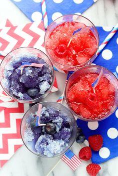 Fourth of July Spiked Snow Cones - Grandbaby Cakes Patriotic Party, 4th Of July Party, Fourth Of July, 4th Of July Desserts, Summer Desserts, Summer Recipes, Blue Food Coloring, Snow Cones, In Vino Veritas