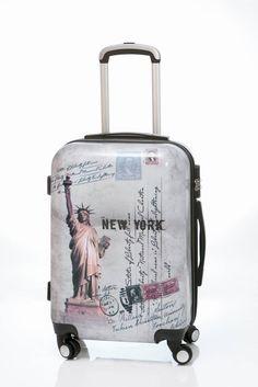 Maleta Liberty tamaño grande, es una maleta de viaje dura de 4 ruedas de goma silenciosa, con diseño muy moderno, envío gratis en un día