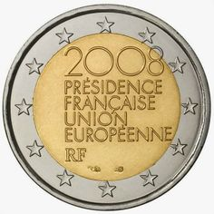2 Euro Commemorative Coins: 2 euro France 2008, French Presidency of the Council of the European Union in the second half of 2008