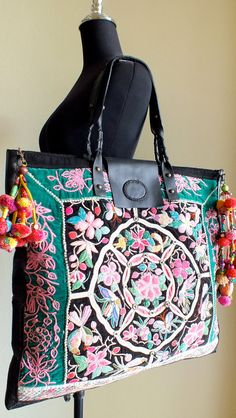 SALE, Ethnic bags, Vintage Handbags, Hill-tribe / Hmong / Miao / Ethnic / Bohemian and tote, Vintage Bags, Vintage Handbags, My Bags, Purses And Bags, Handmade Fabric Bags, Ethnic Bag, Unique Purses, Boho Bags, Beautiful Bags