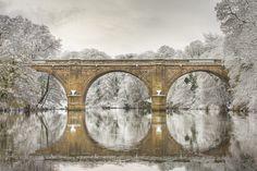 Prebends Bridge, Durham, England in snow Durham England, North East England, Durham University, Durham City, St Johns College, Durham Cathedral, English Countryside, Cumbria, Great Britain