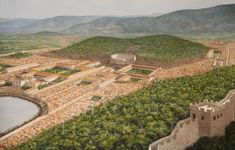 View from the summit of Bulbuldag in the century AD – Archaeology. Byzantine Architecture, Ancient Greek Architecture, Roman Architecture, Historical Architecture, Futuristic Architecture, Ancient Egyptian Art, Ancient Rome, Ancient Greece, Ancient History