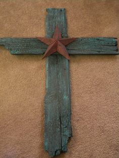 western barn wood houses | Lazy K Ranch Jewelry Collection: Turquoise barnwood cross with red …