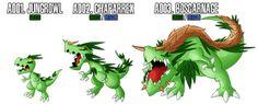 Fakemon: A001 - A003 - Alternate Grass Starter by MTC-Studio
