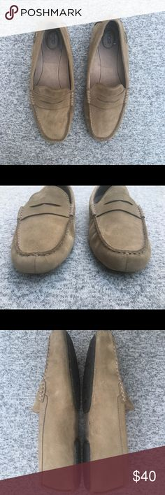 Men's Ugg Tan Driving Leather Penny Loafers Shoes Men's Ugg Australia Tan Sand Driving Leather Penny Loafers Slip On Shoes Size-10 Preowned-Normal Wear with a few signs of wear-see pics UGG Shoes Loafers & Slip-Ons
