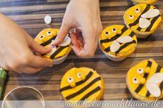 Tutorial – Cupcakes als Marienkäfer und Bienen verkleidet   lecker macht laune