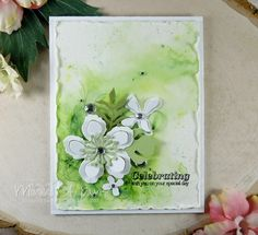 Potpourri, Botanical Flowers, Botanical Gardens, Beautiful Handmade Cards, Tampons, Pretty Cards, Watercolor Cards, Card Tags, Scrapbook