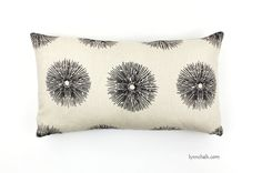 Pillows in Kelly Wearstler Sea Urchin Ivory/Ebony