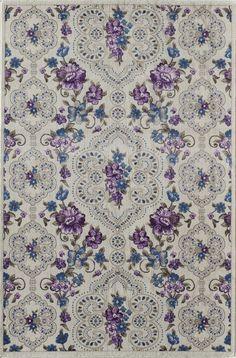 Nkhotakota White/Purple Area Rug