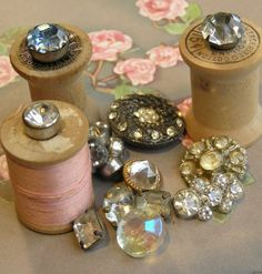 Vintage Rhinestone Buttons