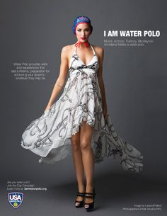 This campaign is radical, although a little far from the realistic look of a water polo player.