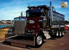 What a #Kenworth! Custom tri-axle w/ chrome Dump body..... unreal!
