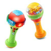 Your little musician can shake things up with the LeapFrog Learn & Groove Shakin' Colors Maracas. This musical toy includes 2 colorful and light-up maracas with three play modes that introduce colors, numbers and music. Toddler Toys, Baby Toys, Kids Toys, Baby Swings And Bouncers, Learn Spanish Online, 6 Month Old Baby, Teaching Colors, Musical Toys, Learning Toys