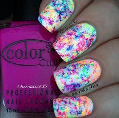 nails cute nail art for summer Pretty Nail Designs, Pretty Nail Art, Cute Nail Art, Cute Nails, Nail Art Kids, Nail Designs For Kids, Nail Art Designs, Tie Dye Nails, Colorful Nails