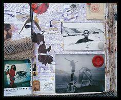 Peter Beard via Culture-keeper Artist Journal, Artist Sketchbook, Art Journal Pages, Peter Beard, Karen Blixen, Collages, Bazar Bizarre, Photocollage, Sketchbook Inspiration