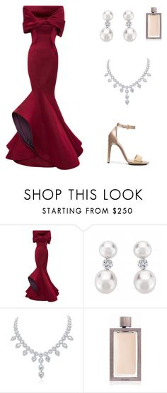 """Red Carpet Dress"" by alina-veja ❤ liked on Polyvore featuring Zac Posen, Guerlain and Calvin Klein"