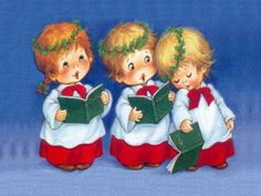 Image Detail for - Иллюстратор Ruth Morehead Christmas Clipart, Christmas Music, Vintage Christmas Cards, Christmas Carol, Christmas Pictures, Christmas Angels, Christmas Greetings, Vintage Cards, All Things Christmas