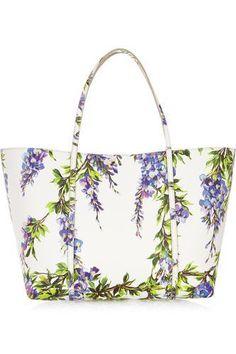 Escape medium floral-print textured-leather tote  #dolce&gabbana