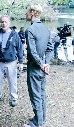 Prometheus - behind the scenes - Michael Fassbender, Ridley Scott