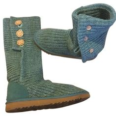 Ugg knitted boots In excellent clean condition . Tiffany / turquoise color . Beautiful addition to an ugg lover.. $68 on 〽️ercari UGG Shoes Winter & Rain Boots