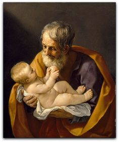 São José comemorado no dia 19/3 Guido Reni (1575–1642)  Museum of Fine Arts, Houston  São José ou José de Nazaré ou José, o Carpinteiro é, segundo o Novo Testamento, o esposo de Maria e o pai de Jesus.  Padroeiro dos pais, das famílias, dos carpinteiros e de toda Igreja.
