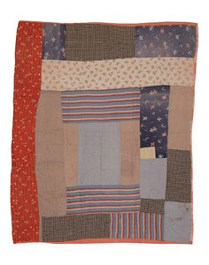 Pig Pen (also called Housetop or Log Cabin) Quilt by The Henry Ford