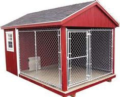 A large outdoor kennel...