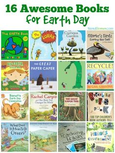An awesome list of books perfect for Earth Day. Includes books about going green, celebrating Earth Day, books with environmental messages and people who make a difference.