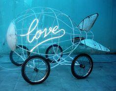 'Love Bomb' neon, 2003 by artist Agus Suwage