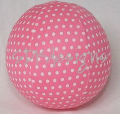 Balloon Ball TOY - Bright Orange Polka Dot Fabric - perfect Birthday Gift or party decor Polka Dot Fabric, Polka Dots, Balloon Birthday, Bubblegum Pink, The Balloon, Spring Crafts, Fabric Design, Balls, New Baby Products