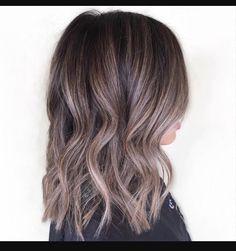 Ash brown balayage for dark hair More