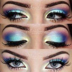 Colorful eye shadow
