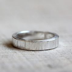 Men's tree bark wedding ring - praxis jewelry