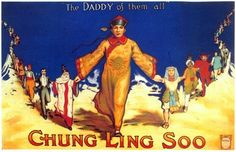 Chung Ling Soo with people from all the world