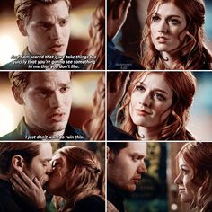 They are literal Goals like wtf❤️ Shadowhunters Tv Series, Shadowhunters Season 3, Shadowhunters Outfit, Clary Und Jace, Clary Fray, Clace Fanart, Malec, Savage Comebacks, City Of Ashes