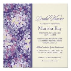 =>>Cheap          Purple Floral Lilac Hydrangea Bridal Shower Custom Invitation           Purple Floral Lilac Hydrangea Bridal Shower Custom Invitation online after you search a lot for where to buyReview          Purple Floral Lilac Hydrangea Bridal Shower Custom Invitation Here a great de...Cleck Hot Deals >>> http://www.zazzle.com/purple_floral_lilac_hydrangea_bridal_shower_invitation-161655116035267026?rf=238627982471231924&zbar=1&tc=terrest