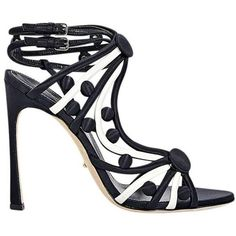 Preowned Black Sergio Rossi Strappy Satin Sandals (£115) ❤ liked on Polyvore featuring shoes, sandals, black, high heels, open toe sandals, strappy sandals, ankle strap high heel sandals, strap sandals and black strappy shoes