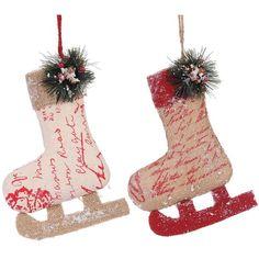 A&B Home Skate Christmas Ornaments (Asst) - Set of 4.