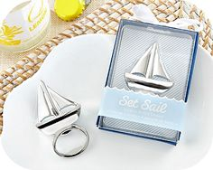 """Sailboat Bottle Opener Favors- Nautical Wedding Party Favors - coupon code is """" freeshipping """""""