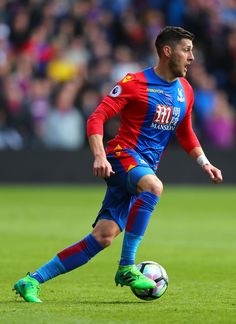 Joel Ward of Crystal Palace in action during the Premier League match between Crystal Palace and Leicester City at Selhurst Park on April 15, 2017 in London, England.