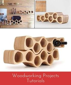 Wine rack / bottle rack OTTO, for 6 bottles, elegant birch plywood - H 18 x W 65 x D 17 cm Plywood Projects, Easy Wood Projects, Woodworking Projects, Woodworking Patterns, Woodworking Videos, Fine Woodworking, Project Ideas, Plywood Furniture, Diy Furniture