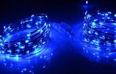 Elegant Blue String Lighting